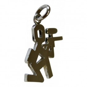 Male Paintballer (Necklace hanger)